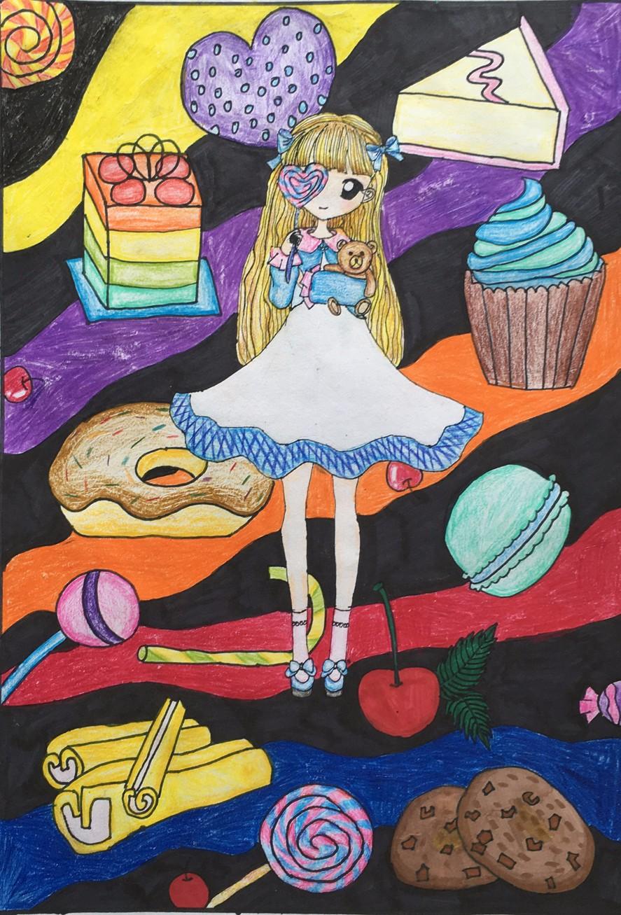 (主题儿童画,大师水粉课,创意线描,高级动漫,服装设计,板报设计,彩陶